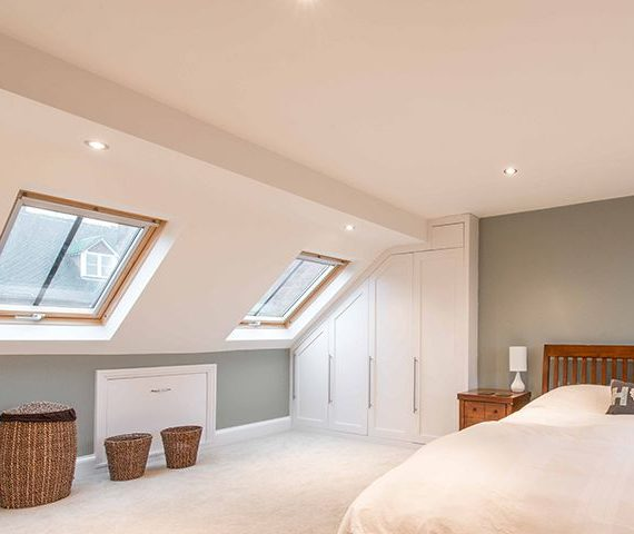 loft conversion in redhill with velux windows
