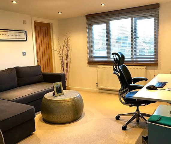 office loft conversion with furniture
